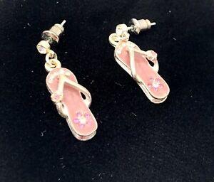 Pink Flip Flop Earrings