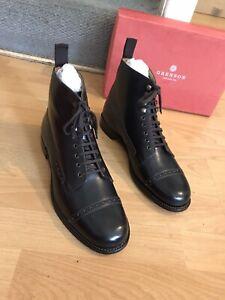 Grenson Fabian Brown Colorado Leather Oxford Mens Boot Uk 8, Eu 42