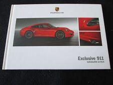 2013 2012 Porsche 911 Carrera EXCLUSIVE German Brochure 991 S Coupe HC Catalog