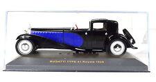 Bugatti Type 41 Royale año de construcción 1928 azul-negro escala 1:43