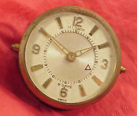 Vintage Deco LeCoultre Memovox 8 Days #219 MOVEMEMT Alarm Clock PARTS GOOD STAFF