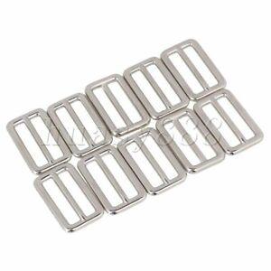10PCS Tri-glides Sliders Buckle Zinc Alloy Component for Handbag Strap Silver