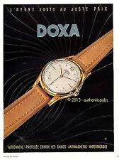 PUBLICITE DOXA MONTRE AUTOMATIC HEURE JUSTE AU JUSTE PRIX DE 1950 FRENCH AD PUB