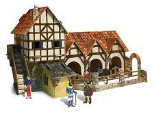 Clever 3D 14264 -Puzzle de cartón de Establo de la Ciudad Medieval