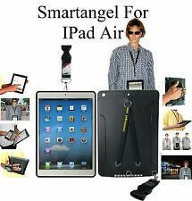 NEW! iPAD AIR TPU CASE WITH UNIQUE DUO HAND AND NECK STRAPS - BLACK