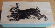 P39 Rabbit Rubber Stamp WM  Victorian style