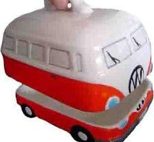 RED VW Volkswagen Kombi Camper Van Ceramic Butter Dish / Holder / Container