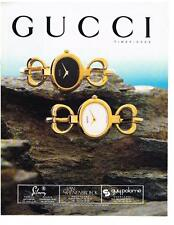PUBLICITE ADVERTISING  1981  GUCCI collection montres                 240213