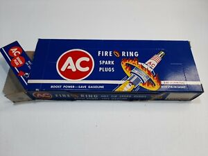 NOS AC FIRE RING  SPARK PLUGS  - full set - NEW IN BOX UNUSED - 45-3 (1960s?)