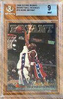 1996 Score Board Kobe Bryant RC Basketball Rookies #15 Graded Mint BGS 9