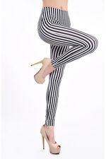 Streifen Zebra Muster Leggings Leggins Treggings Hose Leggin 32 34 XS S