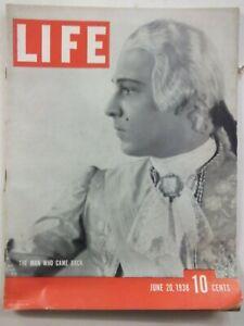LIFE MAGAZINE JUNE 20 1938 RUDOLPH VALENTINO/JAPAN BOMBING OF CANTON