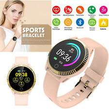 Women Girls Lovely Bluetooth Smart Watch Bracelet Heart Rate Blood Sleep Tracker