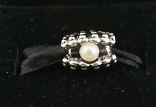 Authentic PANDORA Sterling Silver One of A Kind White Pearl Bead Charm 791134P