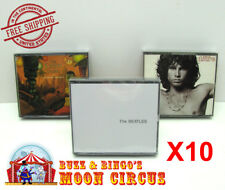 10x MUSIC DOUBLE CD JEWEL CASE - CLEAR PROTECTIVE BOX PROTECTOR SLEEVE CASE