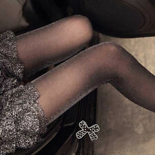Sexy Ladies Sheer Shimmering Top Stay Up Stockings Pantyhose Hold-up Tights New