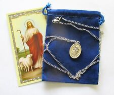 Wonderful St. Florian Saint Medal with 24 inch Necklace, Cross on Back