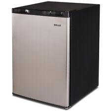 2.6 cu ft Refrigerator Mini Dorm Cooler Compact Fridge Freezer Stainless Steel