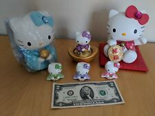 Hello Kitty piggy bank mini figures kimono lot