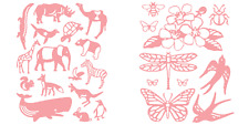 Cricut Cuttlebug ANIMAL CRACKERS & UP IN THE SKY Cut & Emboss Dies New in Pkgs