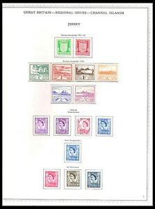 JERSEY 1941-69 ISSUES ON PAGE (LHM/UHM) *CLEAN & FRESH*