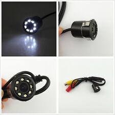 18.5mm With Drill 8LED Car SUV Reversing Parking Backup CCD Camera  Night Vision