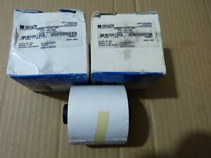 2x Brady PTL-43-439 Y32897 TLS2200 TLS PC Link Vinyl Thermal Labels White