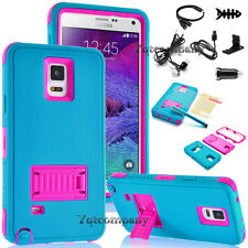 Hybrid Shockproof Kickstand Hard Case Cover For Samsung Galaxy Note 4 / Note 3/2
