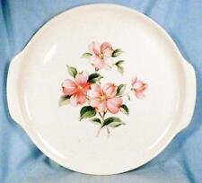 Universal Ballerina Pink Dogwood Chop Plate Round Platter Vintage Dinnerware