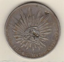 More details for 1854 ca rg mexico silver 8 reales with china symbols in very fine condition.
