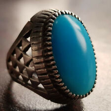 Super clean Beautiful Big Feroza Ring Neyshabpuri Turquoise Ring Real Old Feroza