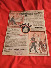 alte original Werbung Reklame Plakat Poster Prospekt ANTAF Medizin zur Verdauung