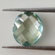 Rose Cut Cabochon Loose Moissanite For Ring 2.45 Ct 10.47mm Vvs1 Green Blue Oval
