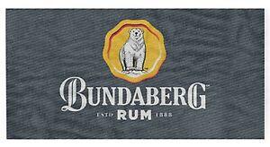 Bundaberg Rum Pinstripe Beach Pool Bath Towel | Bar Gift | Man Cave | Garage
