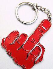 Único dedo F Off clave chain/ring-Metal Billeteras Llavero