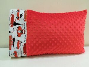 """NWT Christmas Truck Minky Toddler Pillowcase 12""""x16"""" Travel Size Tree Holiday"""