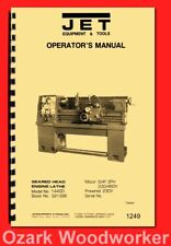 Jet 14x40 Metal Lathe Model 1440d Dashin Studturn Instructions Parts Manual 1249