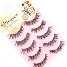 5Pairs Boxed Natural Cross False Eyelashes Black Lightweight Eye Lashes A20