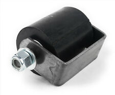 """3"""" Rubber Guide Roller on weldable steel mounting bracket with removable pin"""