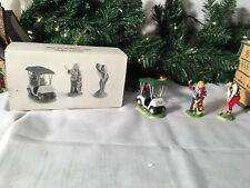 New Department 56 Snow Village Series First Round Of The Year #54936 Set Of 3