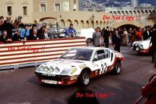 Marketta Oksala Alpine-Renault A310 V6 Monte Carlo Rally 1977 Photograph 1