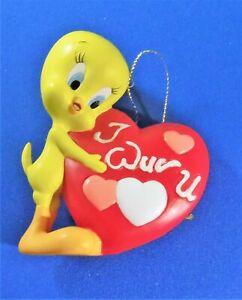 Rare Tweety I Wuv U Ornament Goebel 2000