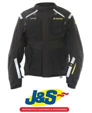 KLIM BADLANDS GORE TEX MOTORCYCLE JACKET BLACK WATERPROOF SIZE MENS MEDIUM M J&S