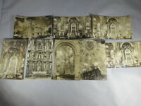 Lot of 8 RPPC Real Photo Postcards Mexico Posted 1930s-1950s Churches  #017