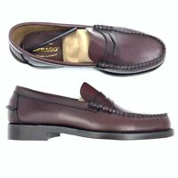 Sebago Mens Loafers Slip On Shoes Brown B76654 Leather Casual Dress 7 New