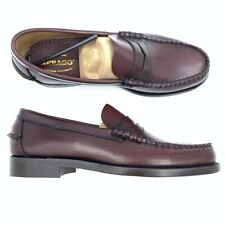 Sebago Mens Loafers Slip On Shoes Brown B76654 Leather Casual Dress 9 New
