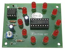 10 LED Kit lumière running cercle Electronics Kit éducatif exécutant séquentiel