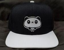 Panda Snapback Cap Adult Hat Streetwear Black