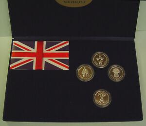 Neuseeland 1998 4 x 5 Dollar Pride of New Zealand Proof Coin Set, Aufl. 1200 St.
