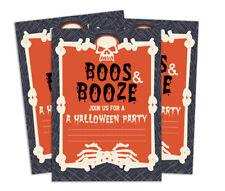 Darling Souvenir Red Halloween Invitation Card 28 Pcs Fill or Write-BGt